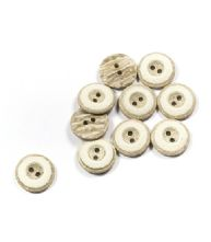 Pack of 5 28L or 18mm Grey Faux Stone Buttons